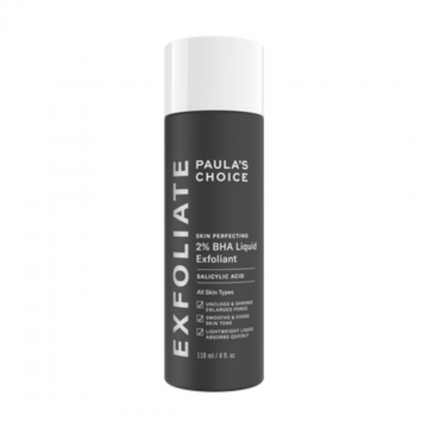 A must-have exfoliant for dry, sensitive skin is Paula's Choice BHA Liquid Exfoliant.