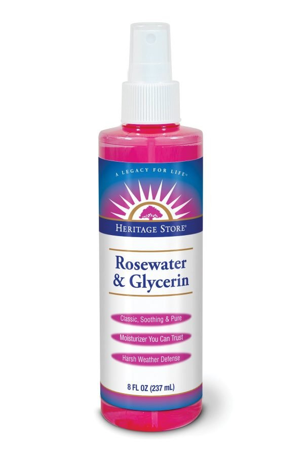 Heritage Store Rosewater and Glycerin Toner is perfect for sensitive skin.